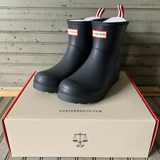 Hunter Women's Original Play Rubber Short Ankle Rain Boots Black Size 9