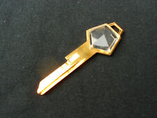 DODGE PLYMOUTH CHRYSLER MOPAR GOLD PLATED CRYSTAL NOS KEY BLANK