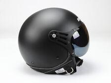 Jethelm 0P01-M , Motorradhelm, Rollerhelm, Matt Schwarz, BNO S, M, L, XL