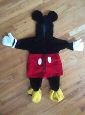 DISNEY STORES MICKEY MOUSE FULL BODY HALLOWEEN HEAD TO TOE COSTUME / 6-12 MONTHS