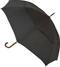 Storm King Mens Classic Black Walking Stick Automatic Open Umbrella Large Brolly
