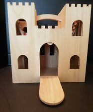 Wood Dollhouse/Castle~Handle~R amp~Stairs~Hinges~Mobile Ready!