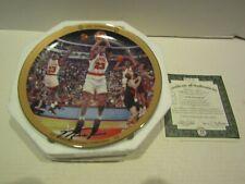 BRADFORD EXCHANGE BASKETBALL PLATE MICHAEL JORDAN UPPER DECK 1992 CHAMPIONS