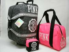 NWT VICTORIAS SECRET PINK 3PC LUGGAGE SET WHEELLE, CARRY ON & BEAUTY BAG VIP .