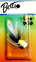 Vintage Betts Size 2 Bee POP Glow Fishing Popper Fly with Rubber Legs