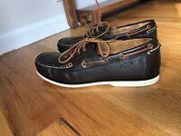 Worn Once! Polo Ralph Lauren Bienne II Men's Boat Shoes Size 12 Dark Brown