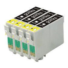 4 Cartucce d'Inchiostro Nero per Epson Stylus D120 DX7400 SX115 SX610FW