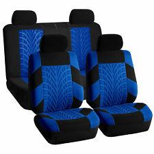 Car Seat Covers For Sedan SUV Truck Set Split Bench Zippers Blue Black