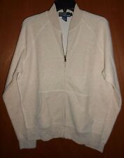 Polo Ralph Lauren Sweater Jacket Pullover Cardigan M Tan Full Zip Knit Kangaroo