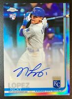 2019 Topps Chrome NICKY LOPEZ Autograph Rookie RC Refractor #CUA-NL Royals
