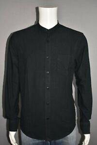 UNTUCKIT NEW $128 Albertoni Black Long Sleeve Shirt Men's Slim Medium