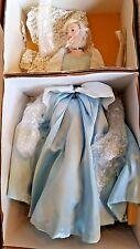 Franklin Mint Heirloom ~ Disney Cinderella Blue Dress Porcelain Doll ~ NRFB