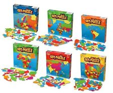 Set of 6 GeoPuzzles - World Map Puzzle & Jigsaw Puzzle to Learn Countries