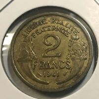 FRANCE 1941 TWO FRANCS HIGH GRADE COIN