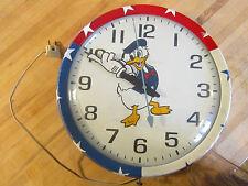Americana,Disneyana hand made Donald Duck large wall clock red,white,blue
