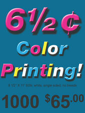 1000 Single Sided Color Copies 60lb Paper