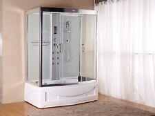 1001 NOW Unique 9001 Pure White Hydro Jet Massage Steam Shower Unit