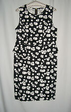 George Dress Black With White Circular Design Print Brans New Without Tags Sz 14