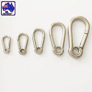 Hanging Carabiner Spring Belt Clip Steel Hooks Mountaineering Climbing TEBOT 85