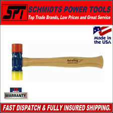 ESTWING DFH12 12oz RUBBER MALLET / HAMMER WITH HICKORY HANDLE - RED & YELLOW NEW