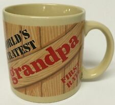 Vintage World's Greatest Grandpa Coffee Mug First Rate Freight Box Crate Mail