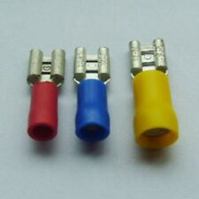 1000pcs FDD 2-250 Insulated Wire Female Spade Receptacle Connectors