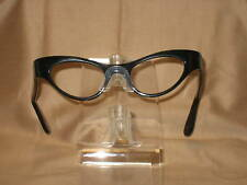 Vintage Eyeglasses All Black Cateye Alice