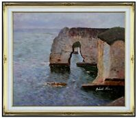 Framed Hand Painted Oil Painting Repro The Manne-Porte at Etretat 20x24in