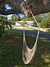 Vintage Hanging Swing Hammock Rope Chair Indoor Outdoor Summer Garden Seating
