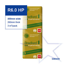 R6.0 HP | 430mm  Bradford Gold™ Hi-Performance Ceiling Insulation Batts