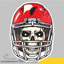 Cráneo con casco gótico rojo Ventana Pegatina Calcomanía Rugby De Vinilo Coche Furgoneta Bici 2409