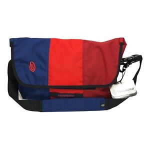 Timbuk2 Spin Messenger Bag Small / Medium Tricolor Blue Red New with Tags NWT