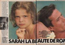 Coupure de presse Clipping 1986 Sarah Biasini la beauté de Romy (6 pages)