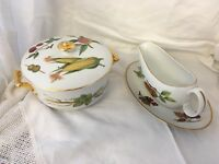Royal Worcester Oven to Table Ware (Evesham) casserole dish & Lid + Sauce Boat