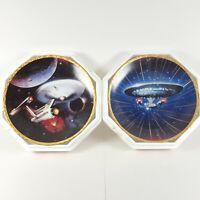 Star Trek The Voyagers Plate Hamilton Collection Enterprise NCC- 1701 & 1701D