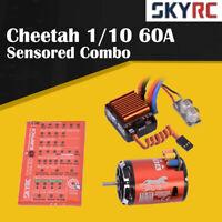 SKyRC Cheetah 1/10 60A Sensored ESC + 13.5T 2590KV Brushless Motor Program Card