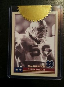 CHRIS ZORICH NOTRE DAME TK LEGACY ALL AMERICAN INSERT AA12 CASE TOPPER /400