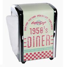 "Retro Metall-Serviettenspender ""1950's Diner"" ca. 14x10 cm inkl. 100 Servietten"