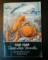 1938 San Juan Fishing and Packing Co Seattle WA Deep Sea Foods Recipes booklet