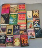 H.G. Wells Larry Niven Anne McCaffrey 20 Book Lot Vintage Paperback Hardback