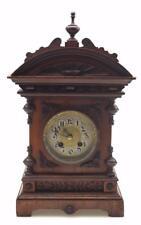 ORIGINALE Antico Orologio Tedesco MANTEL INTAGLIATI IN ROVERE 8 giorno sorprendente per il ripristino