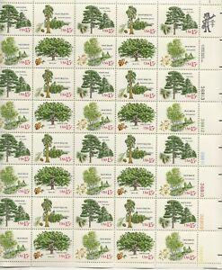 1978 15 cent Trees Full Sheet of 40 Scott #1764-1767, Mint NH