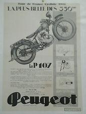 AFFICHE ANCIENNE MOTO PEUGEOT 350 LA P 107 TOUR DE FRANCE CYCLISTE 1931