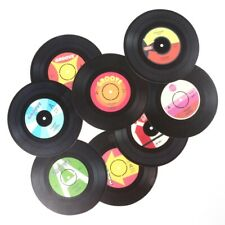8x VINYL RECORD COASTERS Retro Cup Drink Place Mat Coffee Tea Table Protector