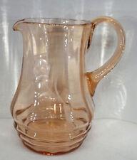 Art Déco Saft Wein Krug Kanne Karaffe Rosalinglas Kristallglas geschliffen 1,6 L