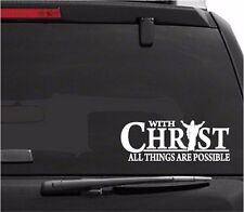 Car Decals. Wall Decal. Laptop Decal... Christian. With Christ All Possible