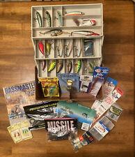 Fishing Tackle Box Full of Baits - Custom Plano Model 5630 Camo 3-Tray