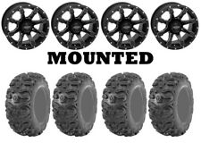 Kit 4 Kenda Bearclaw HTR K587 26x9-12/26x11-12 on Grinder Matte Black HP1K