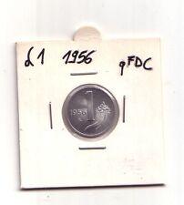 Repubblica Italiana 1 lira 1956   Cornucopia  Italma   qFDC   (m864)