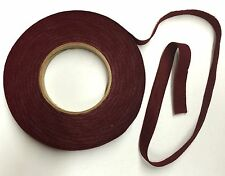 """Thin Maroon Nameboard Felt for Piano Repair/Refinish 12 Continuous 52"""" Strips"""